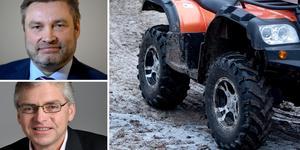 """""""Den maktlöshet som många småföretagare känner måste få ett slut"""", skriver  C-riksdagsledamöterna för Dalarna och Jämtland, Peter Helander och Per Åsling. Foto: TT/montage"""