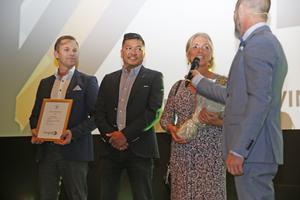 TBO Haglinds utsågs till årets företag på VM-festen i fjol. Syskonen Pär Haglind, Peter Haglind och Mia Hultgren driver företaget som sysslar med balkontillverkning.