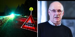 Lars-Eric Abrahamsson som är verksamhetsledare på NTF i Gävleborg varnar för den förrädiska svartisen.