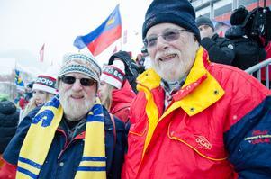 Mac Donald Monvall och Sören Monvall tillhör en exklusiv skara människor som har upplevt alla tre VM i Åre på plats. På fredagen såg bröderna från Kall damernas kombinationstävling.