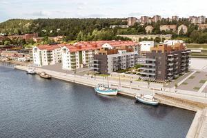Hus och nyproduktion bygger bland annat Haga strand i Norra kajen. Bild: Skiss: Tengbom arkitektbyrå