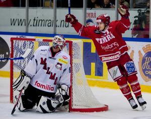 Jonathan Hedström återvände från NHL och vann poängligan direkt. Bild: Nils Jakobsson/Bildbyrån