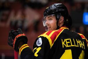 Joel Kellman bar Brynäströjan under den förra säsongen. Nu kan han göra NHL-debut. Foto: BILDBYRÅN / Andreas L Eriksson