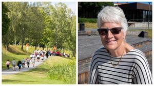 """Nästa år anordnas """"Gå mot ALS"""" till minne av Marianne Eldebrink. """"Jag har lovat Majsan att göra detta till en tradition"""", säger Bitte Andersson."""
