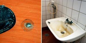 I vissa rum är skadeläget mycket tydligt medan andra rum har skador av lindrigare karaktär.