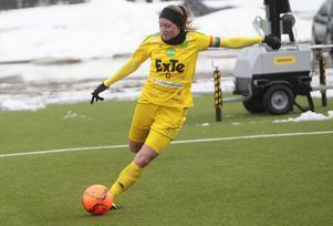 Ljusdals lagkapten Ellika Persson var en av målskyttarna i premiären.
