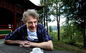 Anders Åberg byggde på sitt Mannaminne i mer än fyra decennier. Foto: Eleonora Brodd/Arkiv.