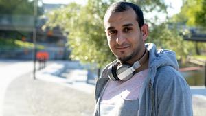 Hassan Kamash, 28,  jobbar med glasfiber, Sundsvall.