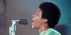 En bild på Aretha Franklin från filmen. (Pressbild)