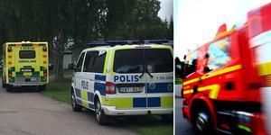 Polis, ambulans och räddningstjänst larmades till platsen.