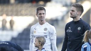 Martin Lorentzson och Johan Mårtensson inför matchen mot Djurgården.