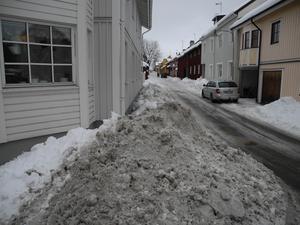 Blindgatan i centrala Falun den 14 mars.