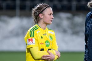 Frida Hellberg gjorde sin första match i Ljusdals gula tröja.