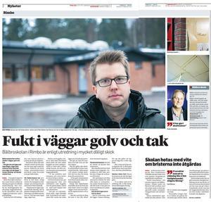 Artiklar från den 5 februari 2014 när det stod klart att Bålbroskolan led av flera brister. NT:s arkiv.