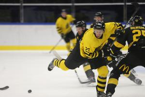 Fredric Weigel har kommit in i AIK på bästa sätt. Men på lördagen kunde centern bara spela en period på grund av skada.