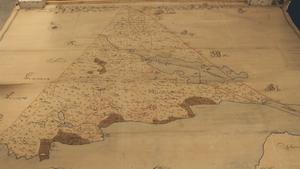Den här kartan visar Rog som är en del av Bjurås. Stora Enso Ab:s arkiv, Arkivcentrum Dalarna.
