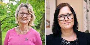 Marie Wilén (kommunalråd), C, och Emma Burstedt (kommundirektör).