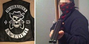 När polisen slog till mot mannen i Gästrikland hittades en väst med mc-klubben No Surrenders emblem.