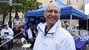 Mats Nordberg från Falun är länets toppkandidat till riksdagen för Sverigedemokraterna.