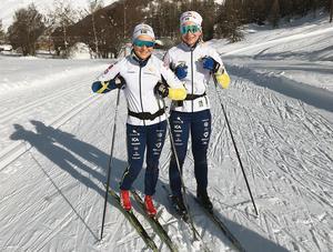 Moa Molander Kristiansen och Moa Olsson rundande av VM-veckan med en inhemsk tävling i Ulricehamn under söndagen. Foto: Privat