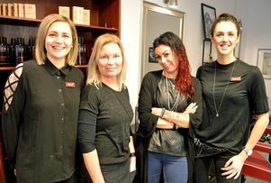 Erika Westlund, Tove Magnusson, Jenny Nordqvist och Hanna Ivarsson är redo att möta kunder.