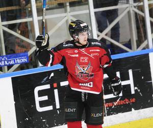 Sebastian Manberg tryckte in kvitteringen i tredje perioden.