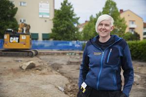 Åsa Berger är projektledare för undersökningen vid Gamla postenparkeringen. Utgrävningen kommer ske i tre etapper och parkeringen kommer vara avstängd i olika delar under sommaren och hösten.