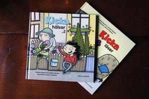 Böckerna om Kicka var de första Jessica skrev. Bild: Paola N Andersson.