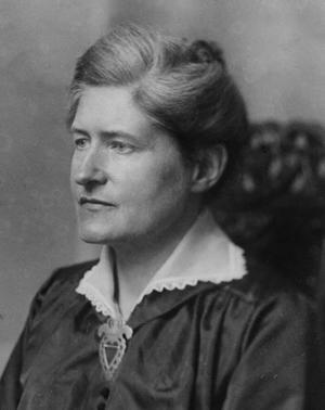 Lydia Wahlström  37 år gammal 1905. Foto: Okänd