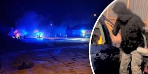 Med bara några dagars mellanrum brann två bilar i Ljusne. Två tonåringar döms nu för händelserna. Bild: Läsarbild / Polisens förundersökning (bilden är ett montage)