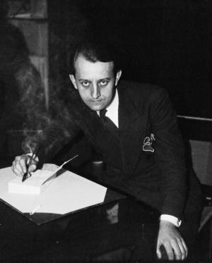 Den berömde franske författaren André Malraux försökte skydda Pierre Drieu la Rochelle från rättegång efter kriget. Bilden är tagen 1933.Foto: Agence de presse Meurisse