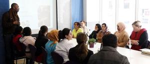 Moussa Ndiaye och Rapatacs arbetsförmedlingsprojekt har resulterat i ett personalkooperativ som presenterades av deltagarna i går.