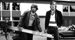 Inge Hammarström tillsammans med Börje Salming på väg mot det stora äventyret i början av 70-talet. FOTO: LARS ROSENBLOM