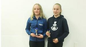 Frida Svensk, Enångers badmintonklubb och Irma Hansson, Göteborg badmintonklubb lyckades ta ett brons efter fint spel i helgen på GotElit.