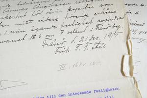 Fritz Ståhls signatur.