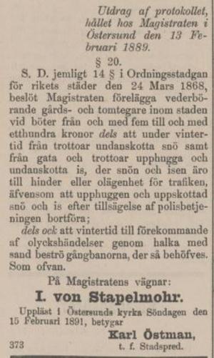 Från ÖP, 4 mars 1901.