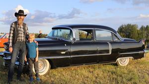 Cadillacen av 1956 års modell fanns med i biofilmen om Lilla Jönssonligan - Cornflakeskuppen.