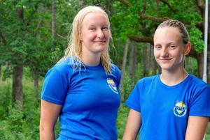 Värnamo SS Lovisa Svensson och Nina Mirkhan.