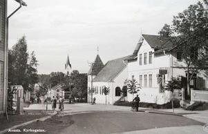 Gamla stadsbilder över Avesta. Kyrkan finns i mitten av bilden. Bild: privat