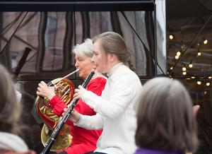 Maria Granberg, valthorn, och Eva Lauenstein, oboe, i franska färger konserten till ära.