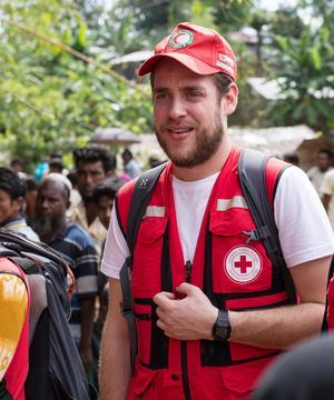 Daniel Wallinder, utflyttad Borlängebo och katastrofhandläggare på Röda Korset, har precis kommit hem från världens största flyktingläger.Foto: Olle Hallberg/Svenska Röda Korset