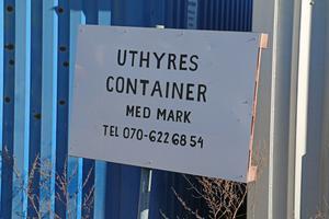 I Vansta industriområde kan man hyra en container, med tillhörande mark.