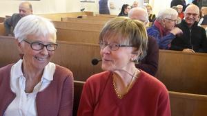 Eva Engblom, dagens värdinna, och Ulla Gudmundson, dagens föreläsare.