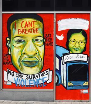 Rosa Parks och George Floyd.