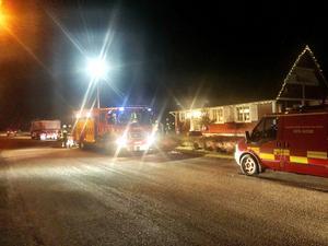 Villan på Videvägen i Vansbro rökfylldes efter en rökgasexplosion i en pelletskamin.