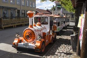 Säters turiståg gör besök, enligt uppsatt schema körs stadsturer samt turer i Sveaparken.