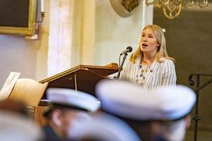 Fanny Arjewall sjöng i kyrkan. Foto: Lennye Osbeck