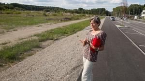 Gertrude Pederson har många tankar om områdets framtid och hur närheten till Oxvretens friluftsområde kan utnyttjas.