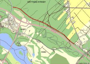 Kartan visar sträckan som kommer vara avstängd. Bild: Avesta kommun