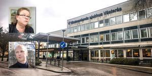 Regionrådet Denise Norström (S) och hälso- och sjukvårdsdirektören Håkan Wittgren måste förklara hur det här kunde hända. Foto: Kenneth Hudd, Rune Jensen, Tony Persson